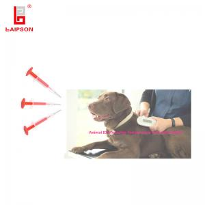 China FDX-B RFID Animal Dog Id Chip Implant , Pet Tracker Microchip 128 Bit Chip Capacity on sale