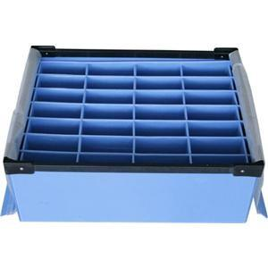 China Large Conductive Fire Resistance Corrugated Plastic Boxes For Partition on sale