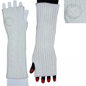 China Luxury purple spandex knitted knitted long arm warmer with Customized logo on sale