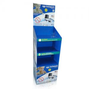 China Light weight Cardboard Storage Bins with 3 shelves holding 30kg POS Retail Dump Bins on sale