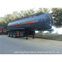 Hydrochloric AcidTanker Semi Trailer , Chemical Road Tankers Custom Material