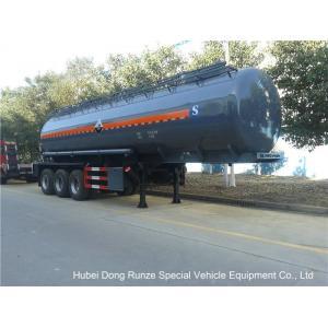 China Hydrochloric AcidTanker Semi Trailer , Chemical Road Tankers Custom Material on sale