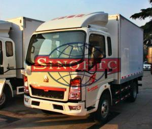 China Closed Box Cargo Transport Truck 8 - 10 Tonsloading Capacity 6 Wheels on sale