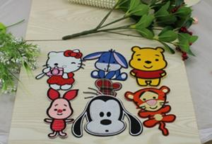 China hello kitty winnie tiger dog rabbit animal cartoon ironing embroidery patches badges Diy on sale