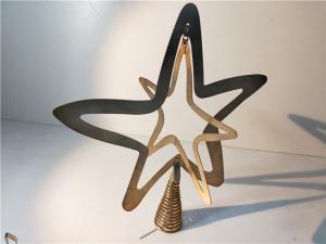 China Gold Plating Chrstmas Star Metal Stamping Dies Art Gift Custom Fabrication on sale