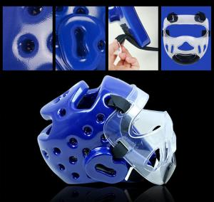 China Kids/Adults Mens/Womens Taekwondo Helmets Sanda/Muay Thai/Boxing Head Protector on sale