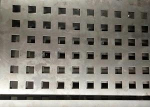 China Square Hole Perforated Steel Plate Galvanized Sheet For Architectural on sale