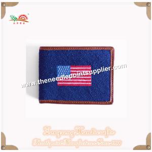 China ZONGRONG HANDICRAFTS001 America Flag Needlepoint Wallet on sale