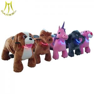 China Hansel  hot sale safari ride on toy/ coin operated walking animal children game equipment on sale