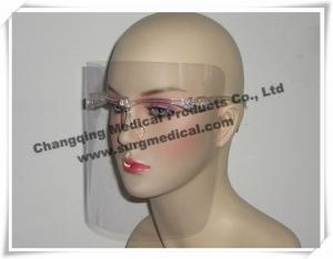 China Clear Frame PET Medical Face Shields Anti Fog Against Splashing on sale
