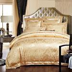 Rose Golden 400T Jacquard Bedding Set /  Non - Pilling Hotel Collection Bed Linen