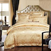 China Rose Golden 400T Jacquard Bedding Set /  Non - Pilling Hotel Collection Bed Linen on sale
