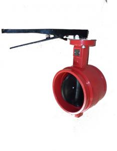 China Groove Butterfly Valve DN100 PN16 on sale