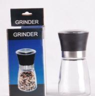 China glass spice bottles with grinder on sale