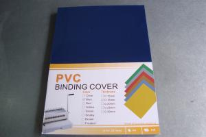 China A4 A3 0.15mm 0.18mm 0.20mm 0.25mm 125mic 150MIC 180MIC 200MIC 250mic plastic PVC  Binding Cover book cover from China on sale