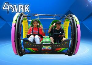 China 48V / 20A Rolling Car Game Machine With Seats In Playground And Amusement Center on sale