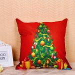 Festival Decoration Pillow Cushion Covers Square Shape With Printed Christmas Tree