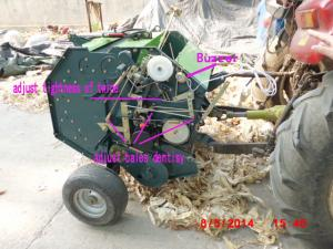 China small round hay balers on sale