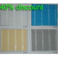 Manual 100% polyester translucent fabric roller blinds for windows with aluminum toprail