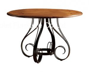 China Antique Dusky Charcoal Finish Restaurant Dining Tables Set Furniture Uphostery on sale