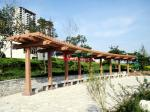 Customized Outdoor Park Pergola Kits Environmental Friendly arch style with single line post