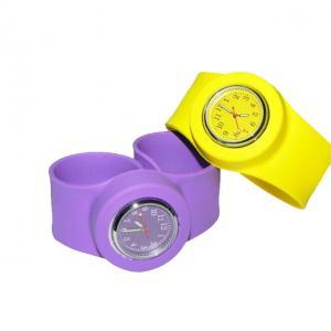 China Digital Silicone Wristband Slap Watches Unisex Kid Slap Bracelet Watch on sale