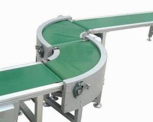China Blue white green pvc turn curve 90 degree conveyor belt 180 degree conveyor belt on sale