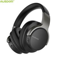 China Ausdom Top Selling ANC8 Over Ear Active Noise Cancelling Adjustable Super Durable Bluetooth Headphone With Mic on sale