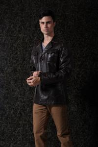 China Custom Colors PU Suit Warm Lining Mens Leather Suits FOR Mature man With OEM Service on sale