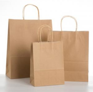China Custom Logo Paper Gift Bags , Eco - Friendly Paper Bag With Handles on sale