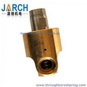 China Threaded connection Heat Oil Hydraulic Rotary Union Single input / output line on sale