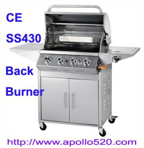 China Deluxe BBQ Gas Grill with IR back burner on sale
