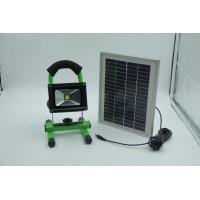 Portable LED Flood Light  10W, with Solar panel IEC / CE / ISO9001 : 2008