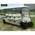 Chariot de golf électrique juridique de 8 passagers de rue en bronze avec les sièges noirs, fort regard