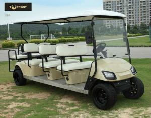 Quality 青銅色の通りの黒い座席が付いている法的電気8人の乗客のゴルフ カート、鋭い見ること for sale
