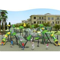 New  Children  outdoor playground fun  climbing with slide park/ Square using