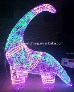 China large outdoor christmas lighted dinosaur wholesale