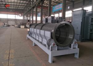 China Organic Waste Rotating Drum Screen Green Waste Trommel Sieve Machine For Recycling on sale