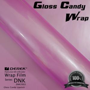 China Gloss Candy Lipstick Pink Vinyl Wrap Film - Gloss Lipstick Pink on sale