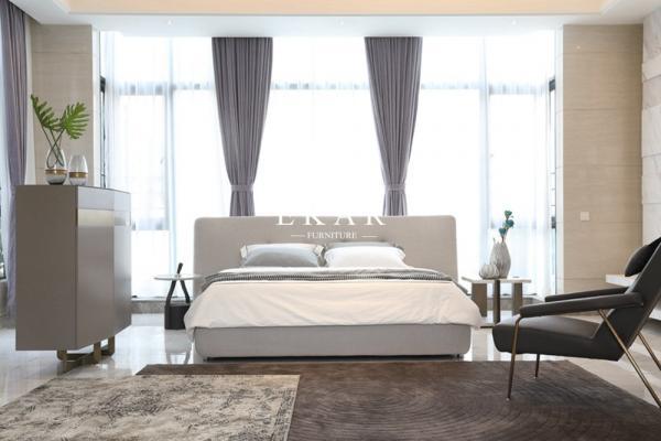 Italian Designer Modern Bedroom Furniture Fabric Headboard King Size Bed For Sale Modern Bedroom Furniture Manufacturer From China 109798033