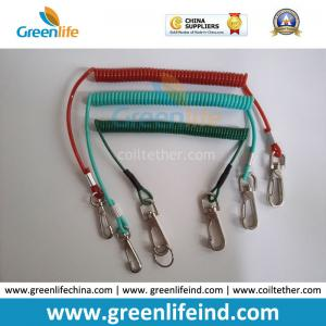 China Muti-Colors Plastic Retention Rope Chain w/Snap Big Hook Security Stretch Tool Lanyards on sale