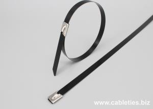 41847ed2f67b ... Quality 201 304 316 PVC coated Stainless steel cable ties-ball self  locking for sale ...