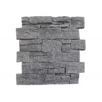 Black Quartzite Slate Cement Wall Cladding Ledger Panel Wall Panel Slate Stacked Stone Veneer Cultured Stone