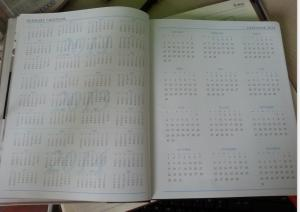 China 2014 hot sale diary with calendar printing on sale