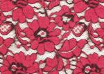 O vermelho escovou OEM amigável da largura de Eco 135cm da tela elástica do laço/OMD CY-LQ0001