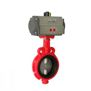 China Small Size 1 Inch DN50 Butterfly Valve Actuator Wafer Style For Chemical Industry on sale