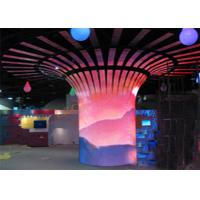 China Indoor Cylinder HD IP45 P2.5mm Flexible Led Video Screen For Exhibition Hall on sale