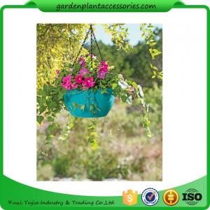 China Colorful ABS Plastic Hanging Pots Includes Hanging Chain With Hook on sale