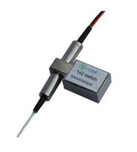 Quality Compact Dual 1X2 Fiber Mechanical Optical Switch 27.2*12.8*8.5mm for sale