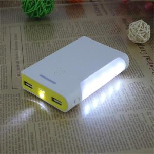 China 12v portable power pack power packs  charging battery dual USB charger for mobile phone fr on sale